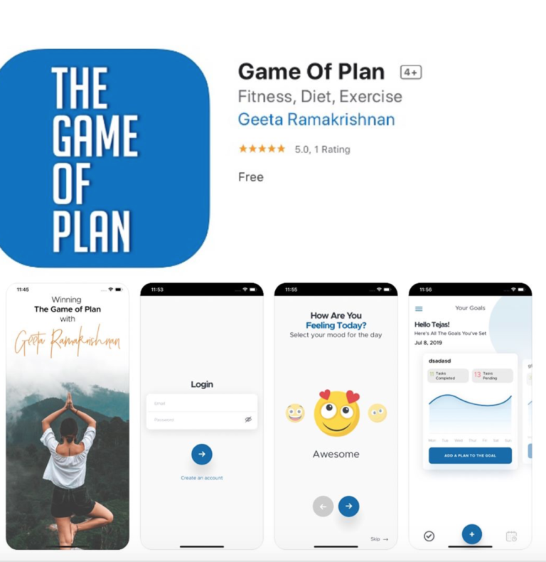 The Game of Plan: App for IOS and Android devices