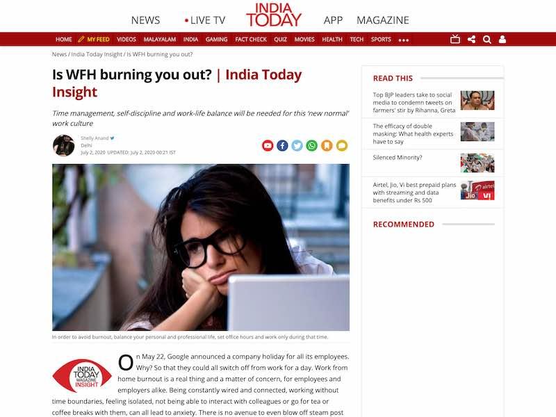 India Today Article by Geeta Ramakrishnan